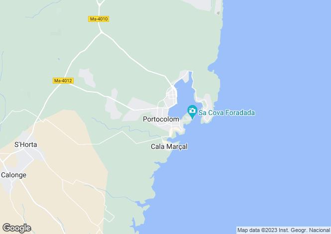 Map for Porto Colom, Mallorca, Balearic Islands