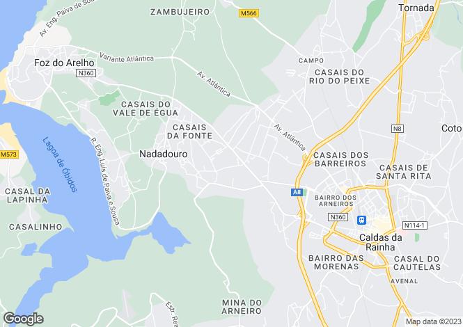 Map for Portugal,Leiria,Nadadouro