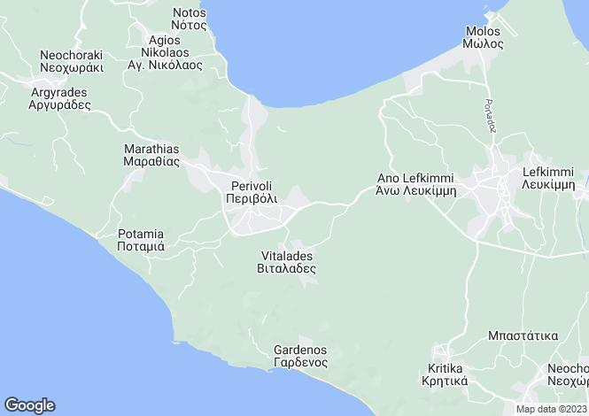 Map for Perivoli, Corfu, Ionian Islands