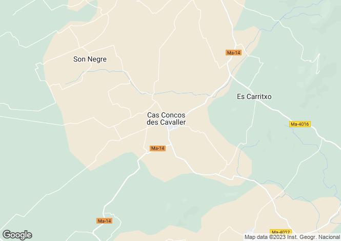 Map for Balearic Islands, Mallorca, Carrer de Cas Concos