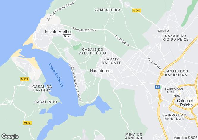 Map for Nadadouro, Caldas da Rainha, Leiria