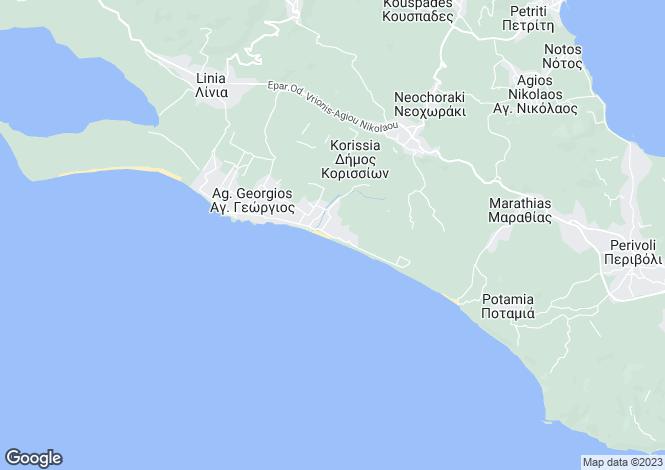 Map for Ionian Islands, Corfu, Agios Georgios (south)