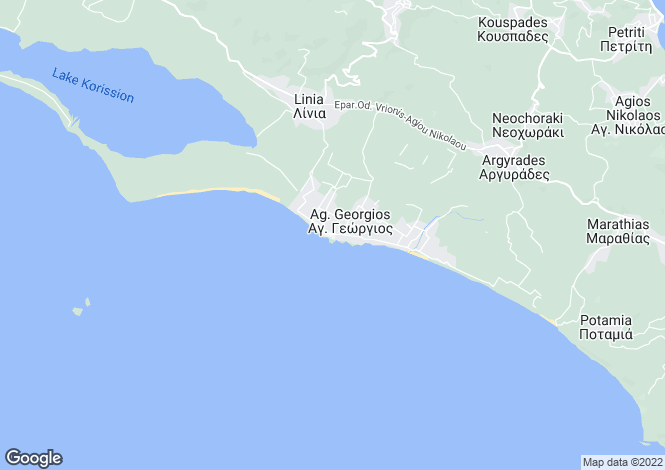 Map for ISSOS HOUSE, Agios Georgios (s)