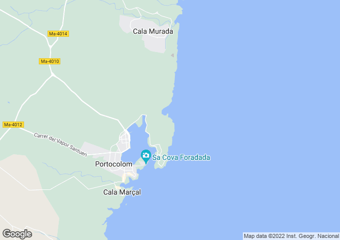 Map for Porto Colom, Mallorca, Balearic Islands