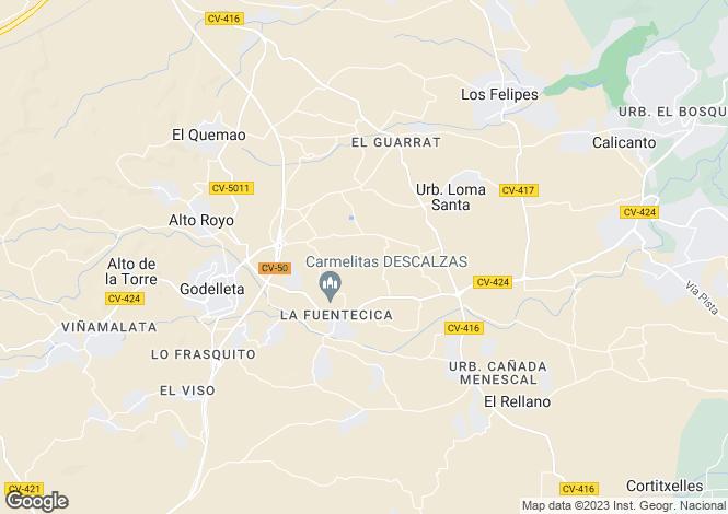 Map for Valencia, Valencia, Godelleta