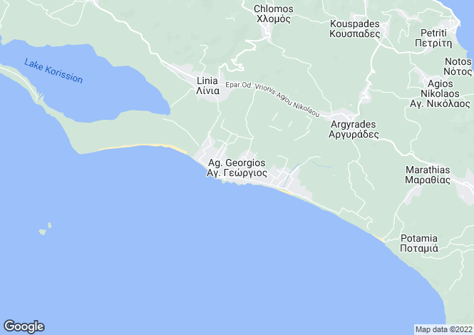 Map for Ionian Islands, Corfu, Agios Georgios (south)