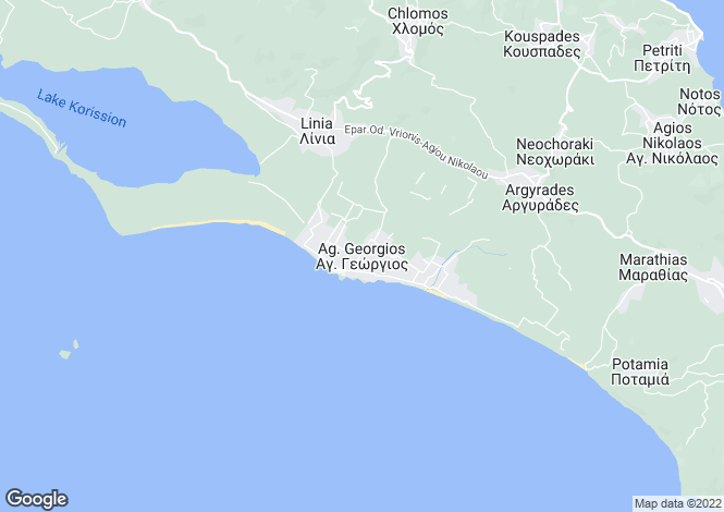 Map for Agios Georgios (south), Corfu, Ionian Islands
