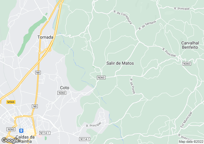 Map for Leiria, Caldas da Rainha