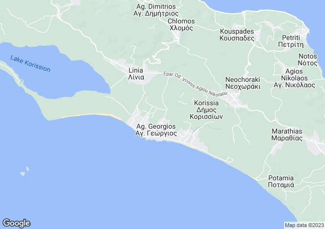 Map for Agios Georgios (south), Corfu, Ionian Islands