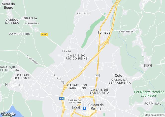 Map for Caldas da Rainha, Estremadura