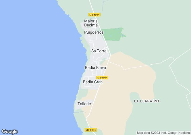 Map for Balearic Islands, Mallorca, Badia Blava