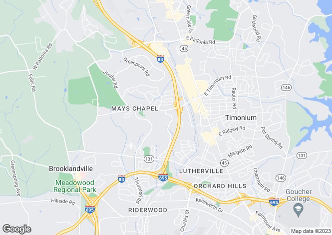 Map for USA - Maryland