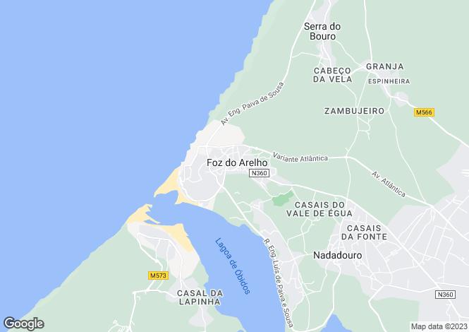 Map for Portugal,Leiria,Foz do Arelho