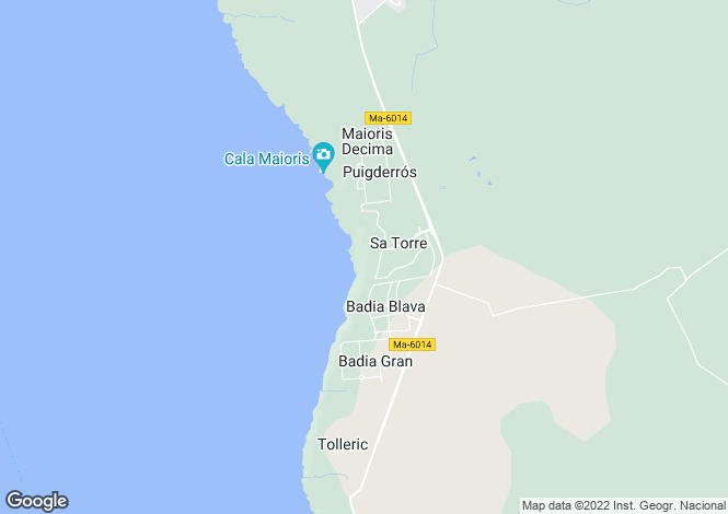 Map for Balearic Islands, Mallorca, Sa Torre