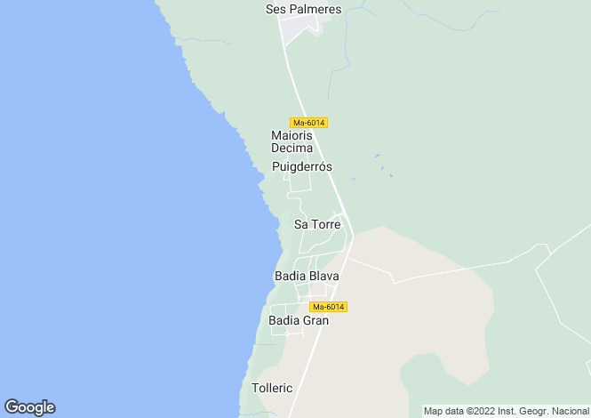 Map for Sa Torre, Mallorca, Balearic Islands