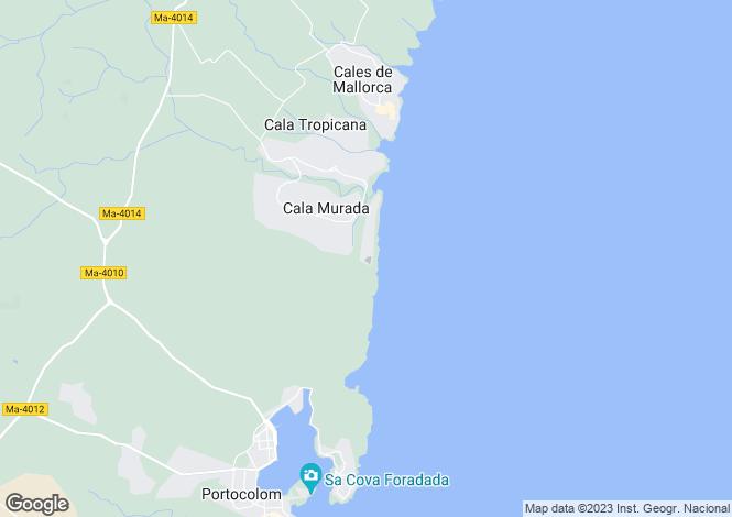 Map for Cala Murada, Mallorca, Balearic Islands