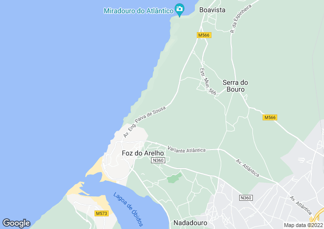 Map for Foz Do Arelho, Silver Coast, Portugal