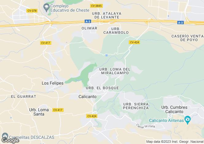 Map for El Bosque, Chiva, Valencia, Valencian Country, Spain