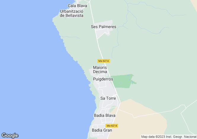 Map for Balearic Islands, Mallorca, Maioris Decima