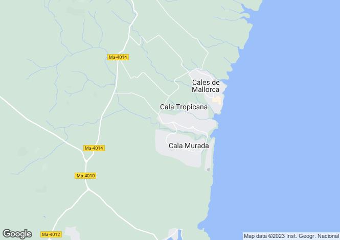 Map for Cala Murada, Mallorca, Spain