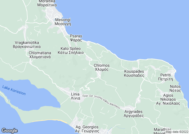 Map for Mesongi, Corfu, Ionian Islands