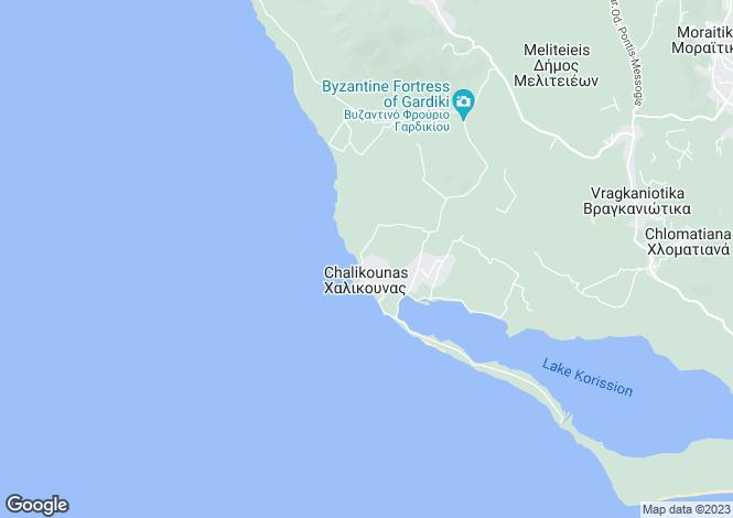 Map for Chalikouna, Corfu, Ionian Islands