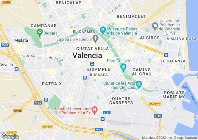 Map for Valencia, Valencia, Valencia