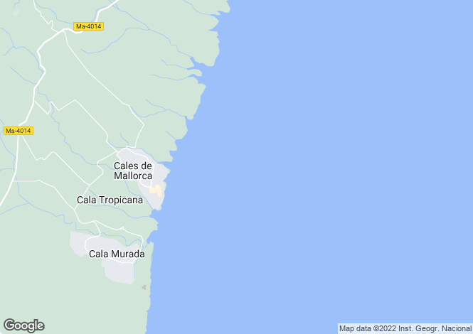 Map for 07688, Cala Murada, Spain