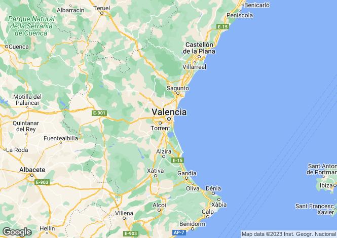 Map for Valencia, Valencia