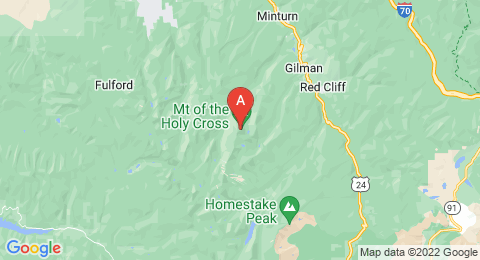 map of Mount of the Holy Cross (United States of America)