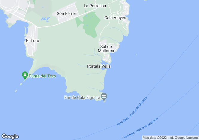 Map for Portals Vells, Mallorca, Balearic Islands