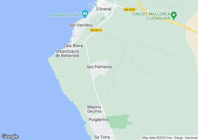 Map for Cala Blava, Mallorca, Balearic Islands