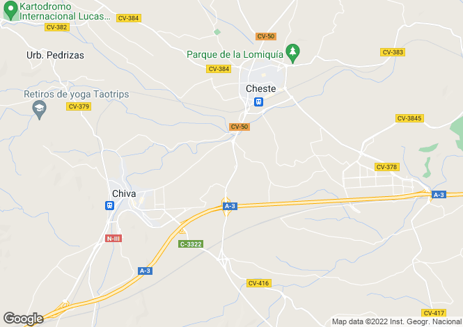 Map for Chiva, 46370, Spain