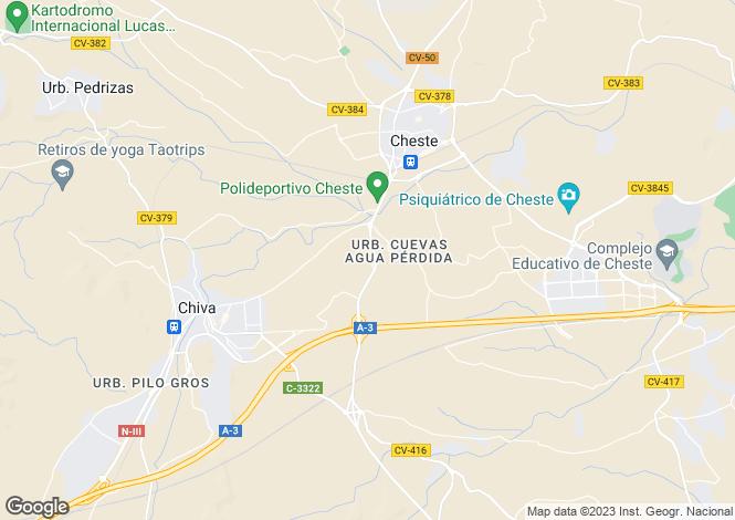 Map for Chiva, Valencia, Valencia