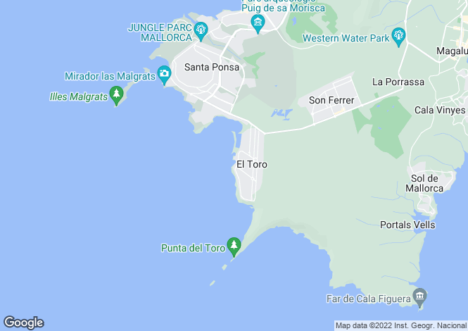 Map for Spain - Balearic Islands, Mallorca, El Toro