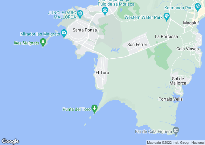 Map for El Toro, Mallorca, Spain