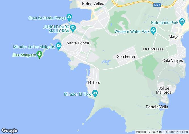 Map for Apartment Close To Beach, Port Adriano, Mallorca