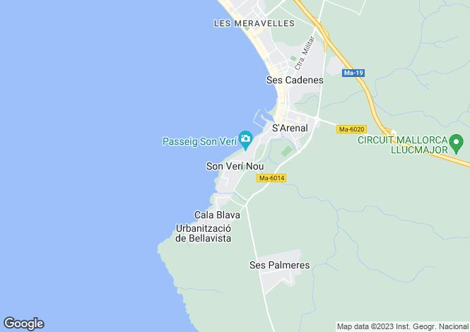 Map for 07600, Son Verí Nou, Spain