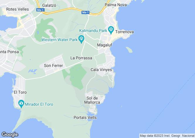 Map for Torrenova, Mallorca, Balearic Islands