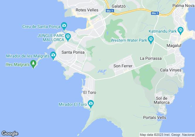 Map for Santa Ponca, Spain