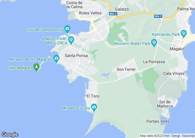 Map for Nova Santa Ponsa, Mallorca, Balearic Islands