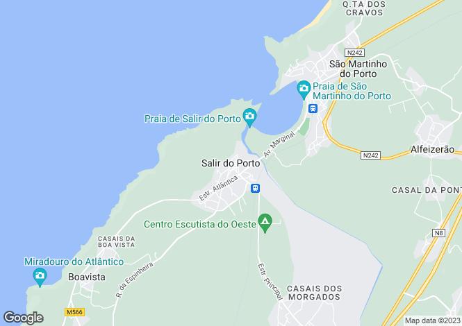Map for Salir do Porto,  Silver Coast
