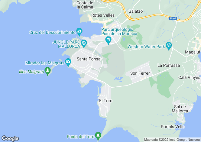 Map for 07180, Port Adriano, Spain
