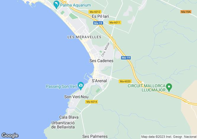 Map for Spain - Balearic Islands, Mallorca