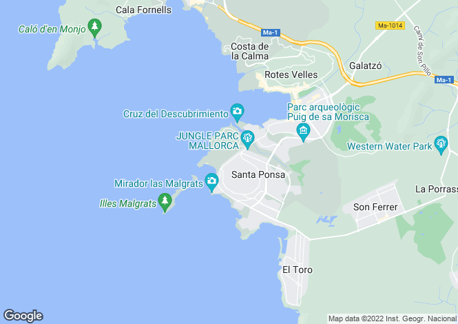 Map for 07180, Santa Ponça, Spain