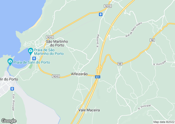 Map for Leiria, Alfeizerão
