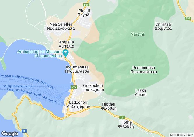 Map for Beach From Plot In Sivota Sivota, Igoumenitsa, 46100