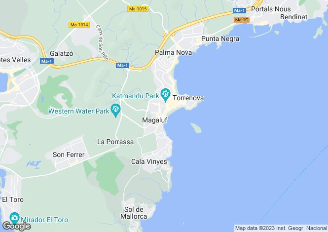 Map for Magalluf, Mallorca, Balearic Islands