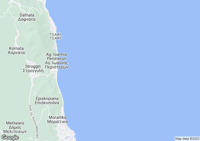Map for Ionian Islands, Corfu, Moraïtika