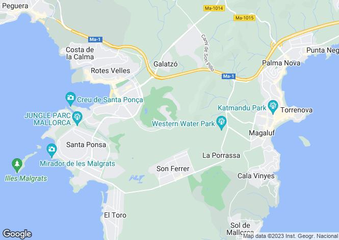 Map for First Line Golf Villa, Port Adriano, Mallorca